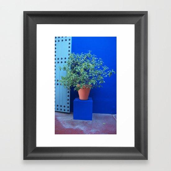 Maison Yves St Laurent Marrakech Framed Art Print