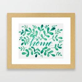Watercolor home foliage - green Framed Art Print