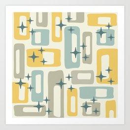 Mid Century Modern Geometric Abstract 132 Art Print