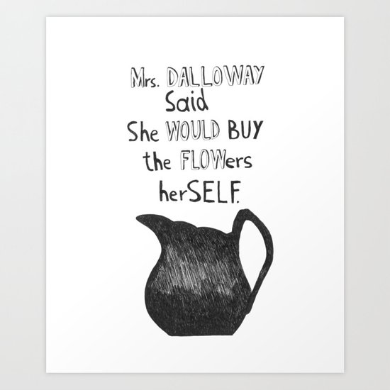 VIRGINIA WOOLF_Mrs. Dalloway Art Print