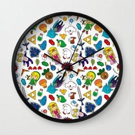 Zelda Cute Pattern Wall Clock