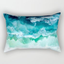 Aerial Beach Rectangular Pillow