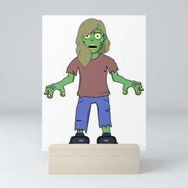 Zombie Girl Mini Art Print