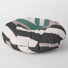 ASDIC/SONAR Dazzle Camouflage Graphic Design Floor Pillow