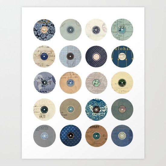 Vinyl Record Collage Art Print