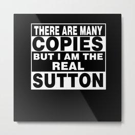 Team SUTTON Family Surname Last Name Member Metal Print