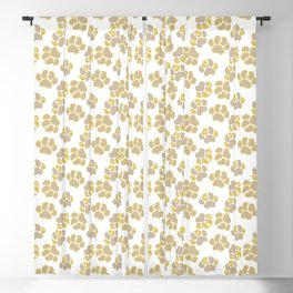 Cute golden paws in pastel colors Blackout Curtain