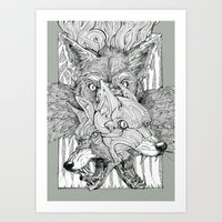 The Foxes Jaws Art Print