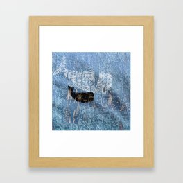 whale and spirit Framed Art Print
