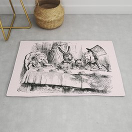 Blush pink - mad hatter's tea party Rug