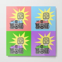 Let's warholize...and say cheese! Metal Print