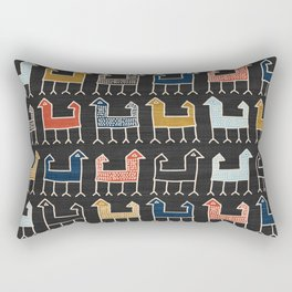 Zagros in Charcoal Rectangular Pillow