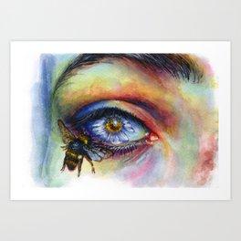 Flower eye Art Print