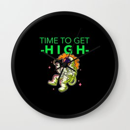 st patricks day time to get high Wall Clock