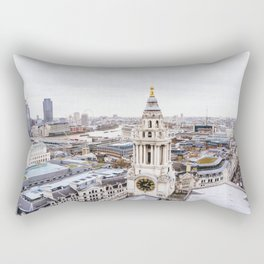 City View over London from St. Paul's Cathedral 2 Rectangular Pillow