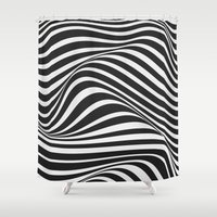 wave Shower Curtains featuring Wave by Tracie Andrews