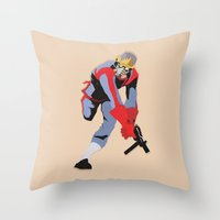 star lord Throw Pillows featuring Star-Lord by Simon Alenius
