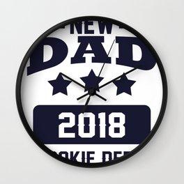 New Dad 2018 Rookie Dept. Wall Clock