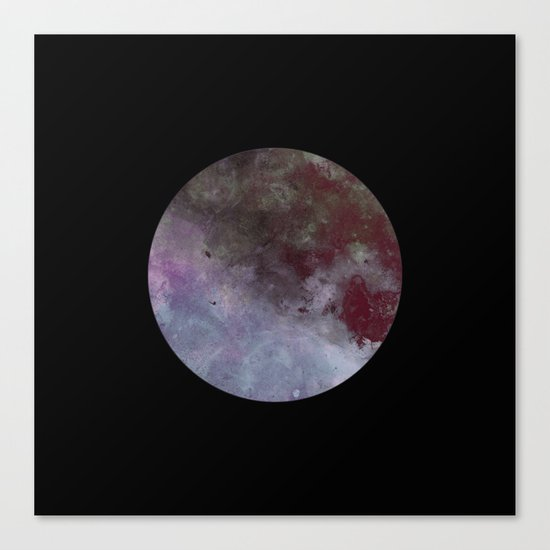 Lonely planet - Space themed geometric painting Canvas Print