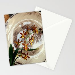 A Brushstroke Of Orchid Genus Stationery Cards