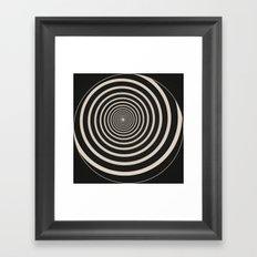 Spiral Clock Framed Art Print