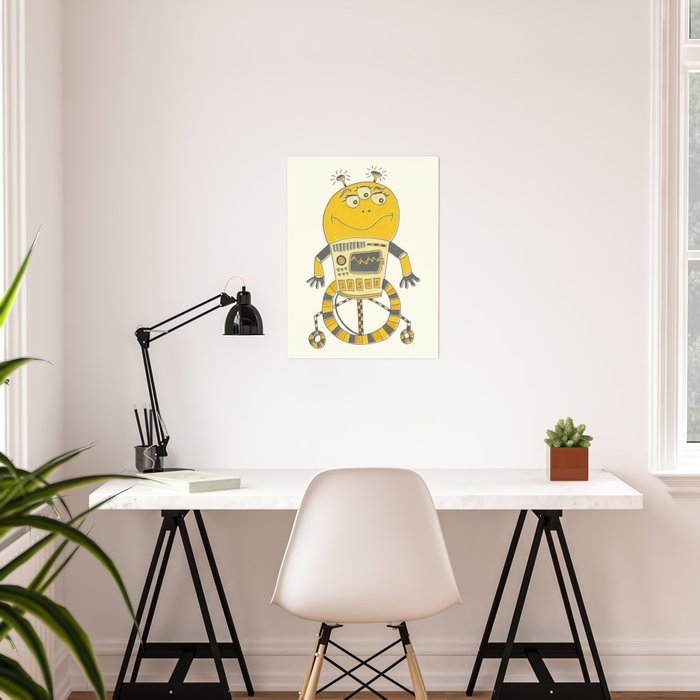 Robot Alien Monster No 043 Poster