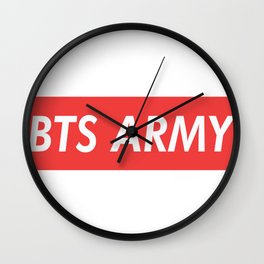 BTS ARMY red Wall Clock