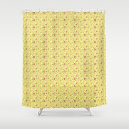 Spring Floral Yellow Shower Curtain