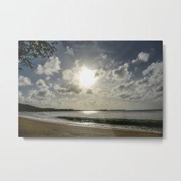 Tobago Seashore Metal Print