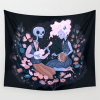 karl Wall Tapestries featuring Rhythm of Grief by Karl James Mountford
