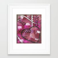 xoxo Framed Art Prints featuring XOXO by Kimberly McGuiness
