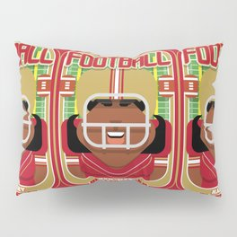 American Football Red and Gold - Hail-Mary Blitzsacker - Aretha version Pillow Sham