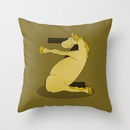 Monogram Z Pony Throw Pillow