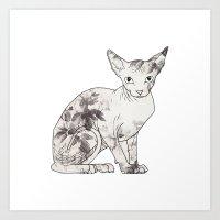 Lady Spynx Art Print