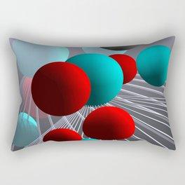 crazy lines and balls -10- Rectangular Pillow
