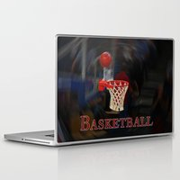 basketball Laptop & iPad Skins featuring Basketball by LoRo  Art & Pictures