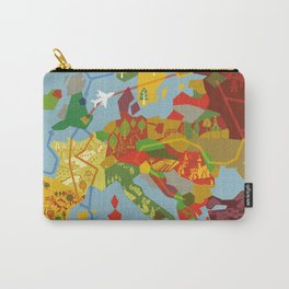 Abstract European Travel Map Carry-All Pouch
