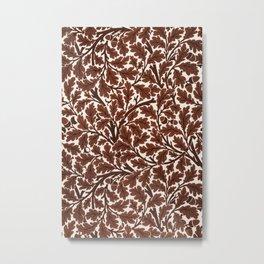 Red Oak Tree by John Henry Dearle for William Morris Metal Print
