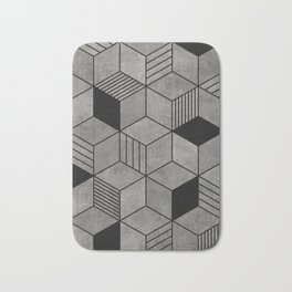 Random concrete hexagons Bath Mat