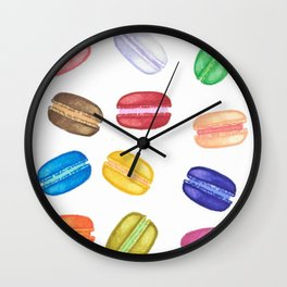 itty bitty macarons Wall Clock