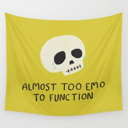 Almost Too Emo to Function Wall Tapestry