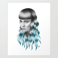 grimes Art Prints featuring Grimes by Nestor