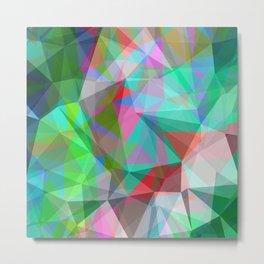 green crystal depth Metal Print