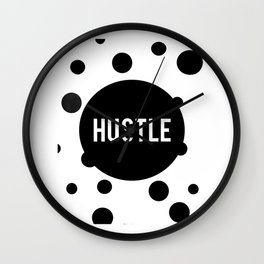 HUSTLE WALL DECOR, Hustle Hard Girl,Hustle Print,Hustle Modern Art,Hustle Office Sign,Modern Decor,H Wall Clock