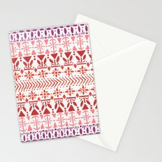 Norwegian Pattern – Reds & Corals Stationery Cards