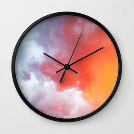 Orange Sky at sunset Wall Clock