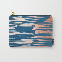 Tiger Paint Stripes - Sweet Peach Shimmer on Saltwater Taffy Teal Carry-All Pouch