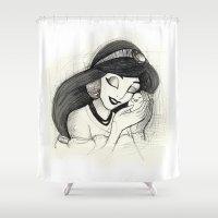 jasmine Shower Curtains featuring Jasmine by Herself