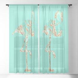 Flamingo Spring Sheer Curtain