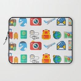 Travel Icons Laptop Sleeve